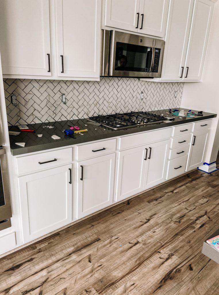 Backsplash tile sealer application