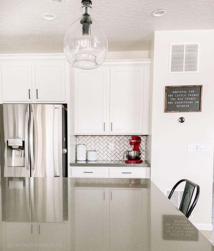 Finished DIY Kitchen Backsplash